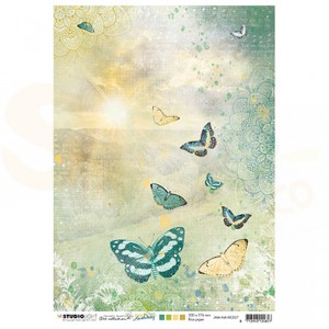 StudioLight, JMA ricepaper Sunrise butterflies New Awakening nr.07 JMA-NA-RICE07