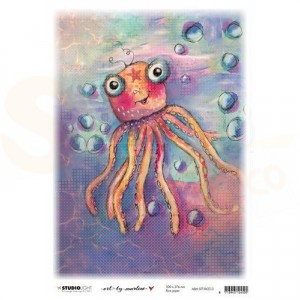 StudioLight, Art by Marlene - ricepaper So-Fish-Ticated nr.13 ABM-SFT-RICE13