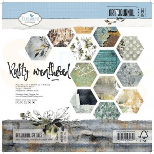 Elizabeth Craft Designs, paperpack C001, Rusty Weathered