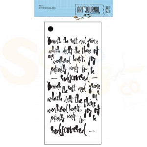 Elizabeth Craft Designs, Art Journal Stencil S032, Storytelling