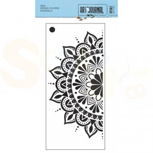 Elizabeth Craft Designs, Art Journal Stencil S033, Spring flower Mandala