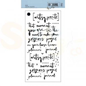 Elizabeth Craft Designs, Traveler's Notebook Stencil S035, Artsy Pants