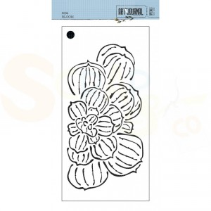 Elizabeth Craft Designs, Traveler's Notebook Stencil S036, Bloom