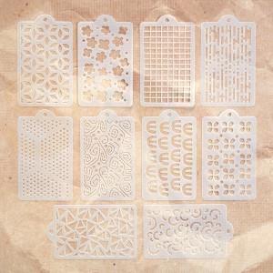 Elizabeth Craft designs, Happy Patterns Stencil pack S041