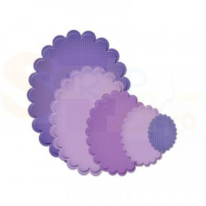 Spellbinders, S4-111, classic scalloped ovals LG