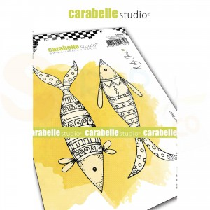Carabelle Studio, Cling stamp, Well dresse Fish SA60482