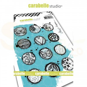 Carabelle Studio, Cling stamp, Circles Collage SA60505