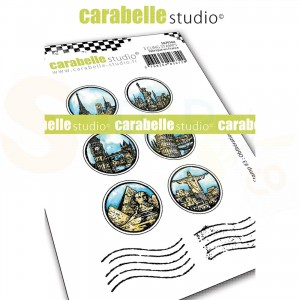 Carabelle Studio, Cling stamp, My stamp #3 obliterations