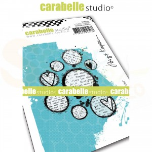 Carabelle Studio, Cling stamp, Lovely Circles SA70171