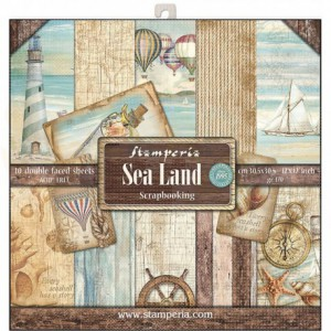 SBBL37 paperpad 12x12 inch Stamperia, Sea Land