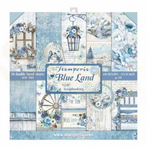 SBBL47 paperpad 12x12 inch Stamperia, Blue Land