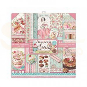 SBBL78 paperpad 12x12 inch Stamperia, Sweety