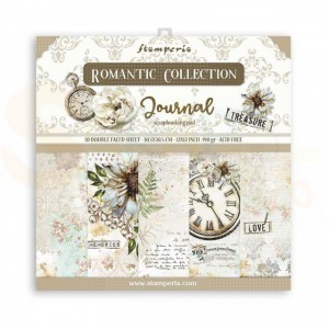 SBBL86 paperpad 12x12 inch Stamperia, Romantic Journal