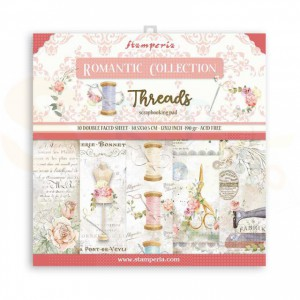 SBBL88 paperpad 12x12 inch Stamperia, Romantic Threads
