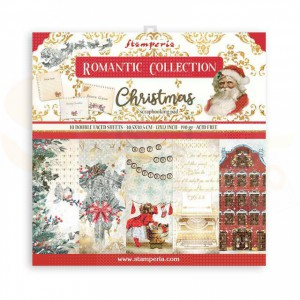 SBBL96 paperpad 12x12 inch Stamperia, Romantic Christmas