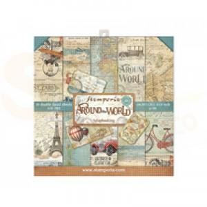 SBBS12 paperpad 8x8 inch Stamperia, Around the World
