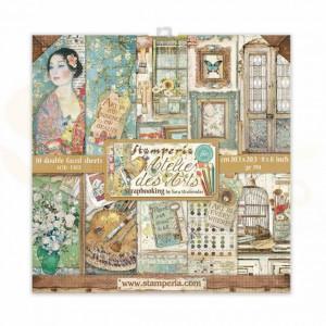 SBBS33 paperpad 8x8 inch Stamperia, Atelier des Arts