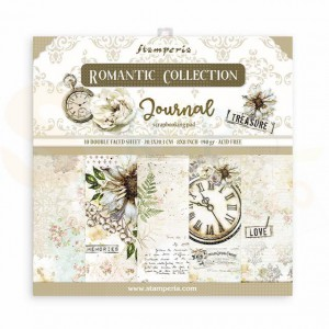 SBBS34 paperpad 8x8 inch Stamperia, Romantic Journal