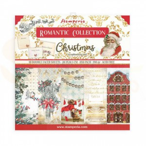 SBBS44 paperpad 8x8 inch Stamperia, Romantic Christmas