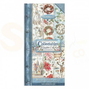 Stamperia, paper pack 6x12 inch, Winter Tales SBBV07