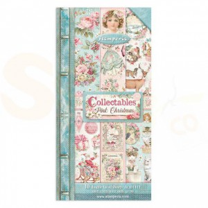 Stamperia, paper pack 6x12 inch, Pink Christmas SBBV09