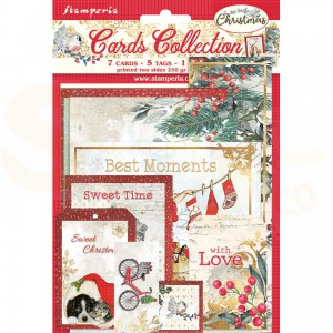Stamperia, cards collection SBCARD09, Romantic Christmas
