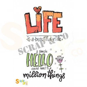 SC-002, clearstamp Scrap&Co, Life - Hello