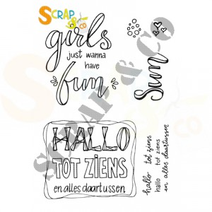SC-005, clearstempel Scrap&Co, Girls and Hallo