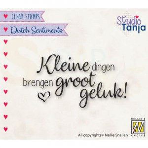 nellie's choice, clearstamp Sentiments, Kleine dingen SENC015