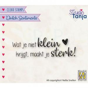 nellie's choice, clearstamp Sentiments, Wat je niet klein SENC016