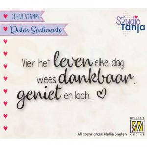 nellie's choice, clearstamp Sentiments, Vier het leven SENC017