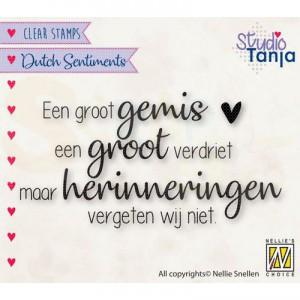nellie's choice, clearstamp Sentiments, Een groot gemis SENC019