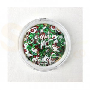 Picket Fence Studios, Sequin Mix, Christmas Punch SQ-114