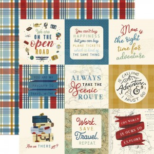 Echo Park Paper, Scenic Route SR2129, Journaling cards 4x4