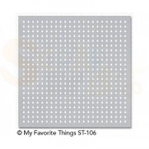 ST-106 My Favorite Things stencil Mini raindrops