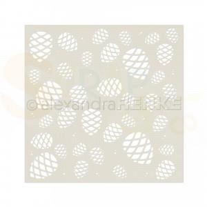 Alexandra Renke, stencil ST-AR-FL0007 Many fine cones