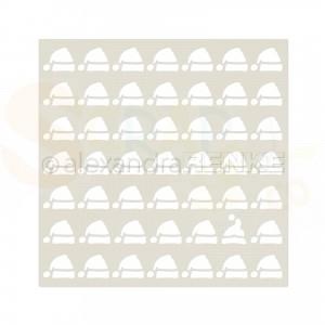 Alexandra Renke, stencil ST-AR-MU0052 Santa Claus caps