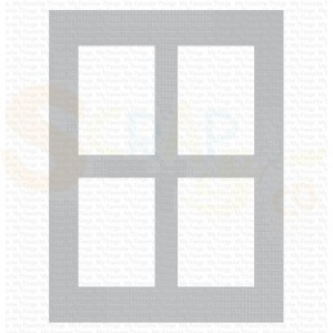 ST-136 My Favorite Things stencil, Window Panes