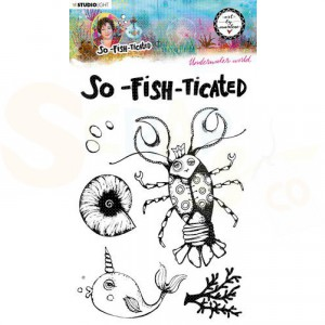 StudioLight, Art by Marlene - clearstamp So-Fish-Ticated nr.10 ABM-SFT-STAMP10