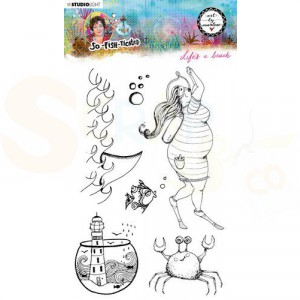StudioLight, Art by Marlene - clearstamp So-Fish-Ticated nr.11 ABM-SFT-STAMP11