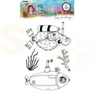 StudioLight, Art by Marlene - clearstamp So-Fish-Ticated nr.12 ABM-SFT-STAMP12