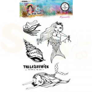 StudioLight, Art by Marlene - clearstamp So-Fish-Ticated nr.14 ABM-SFT-STAMP14