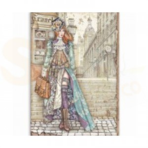 Stamperia rice paper A4, Lady Vagebond DFSA4518
