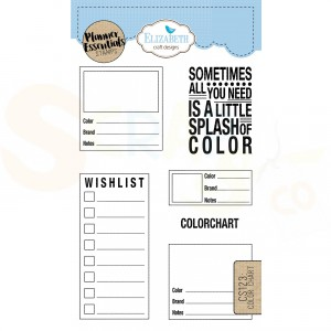 Elizabeth Craft Designs, clearstamp CS123, Color chart