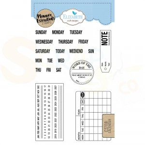 Elizabeth Craft Designs, clearstamp CS118, Calendar