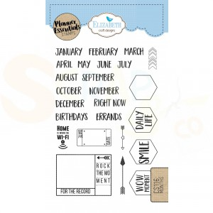 Elizabeth Craft Designs, clearstamp CS116, Months