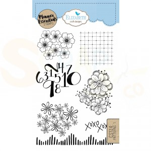 Elizabeth Craft Designs, clearstamp CS124, Patterns 1