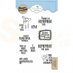Elizabeth Craft Designs, clearstamp CS121, Remember