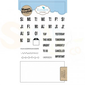 Elizabeth Craft Designs, clearstamp CS117, Schedule