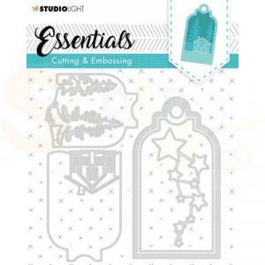 Studiolight, embossing die cut stencil Label Essential nr. 320 STENCILSL320